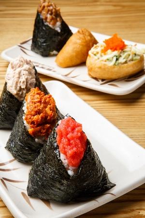 japanese cookery: onigiri Stock Photo