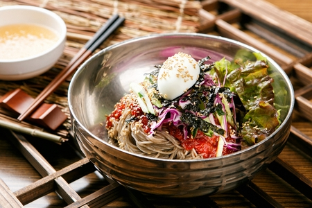 Makguksu Stock Photo