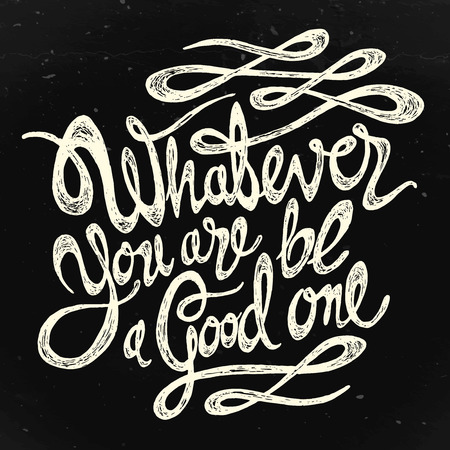 Whatever you are, its a good idea - a black textured background Ilustrace