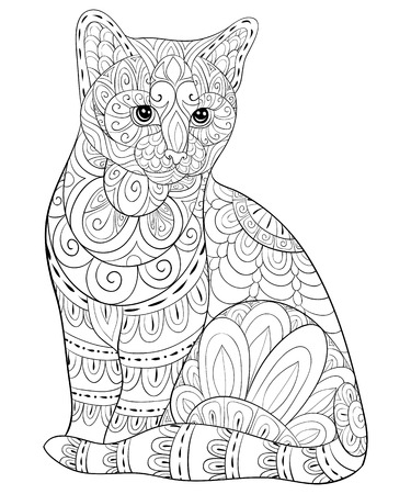 28861 Coloring Pages Adult Cliparts Stock Vector And Royalty Free