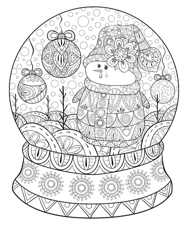 Christmas decoration illustration for adults.