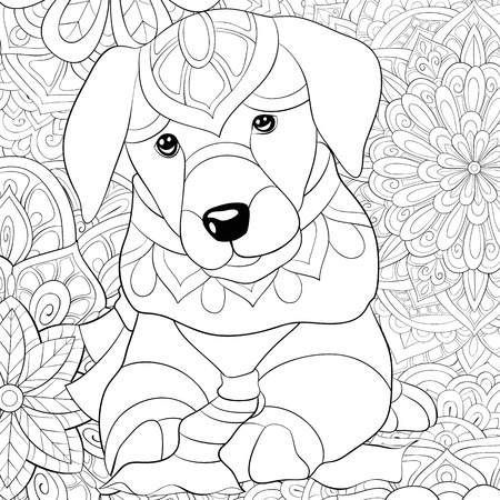7478 Dog Line Drawings Stock Vector Illustration And Royalty Free