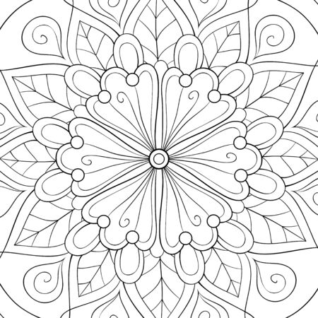An abstract background with zen ornaments image for relaxing.Zen art style illustration for print.Poster design.