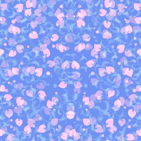 A repeat pattern with small flowers on the blue background image for print.
