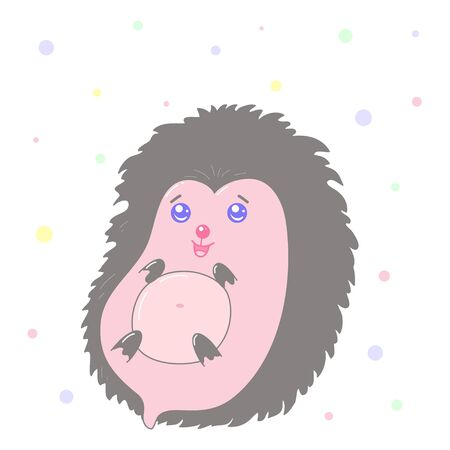 A kawaii hedgehog image for print,icon design. Ilustrace
