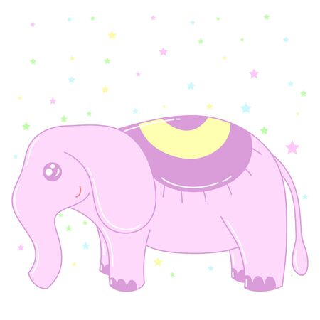 A kawaii elephant  image for print,icon design. Vectores