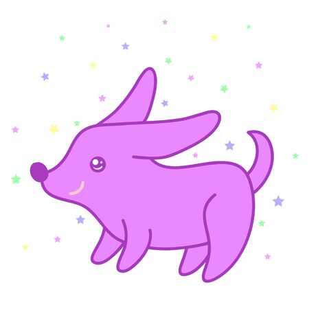 A kawaii small dog image for print,icon design.