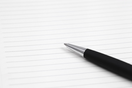 pen on note book close up shoot Stock Photo - 17998766
