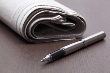 actuality: Close up of Business newspapers