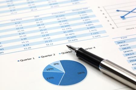 Stock market graphs analysis report photo