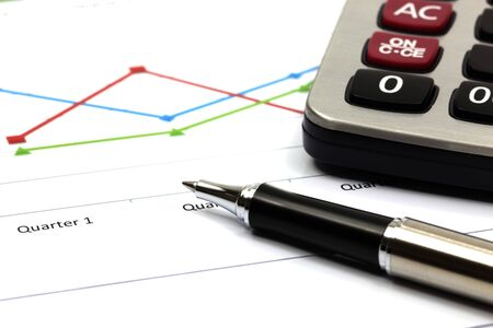 business chart showing financial success Stock Photo - 18288019