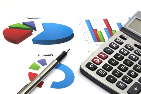 business chart showing financial success Stock Photo - 18288022