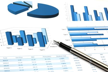 business chart showing financial success Stock Photo - 18288025