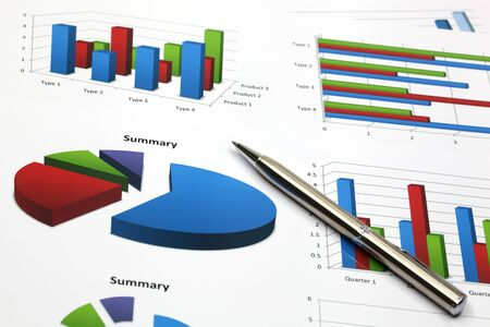 business chart showing financial success Stock Photo - 18288015