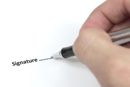 cuadro sinoptico: Hombre de negocios de firmar un contrato.
