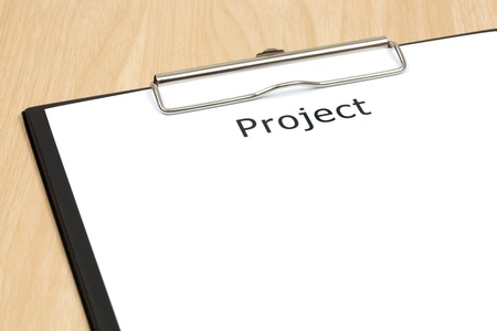 The word projects close up in paper Stock Photo - 18413788
