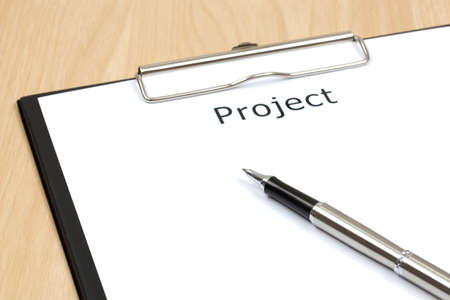 The word projects close up in paper Stock Photo - 18413792