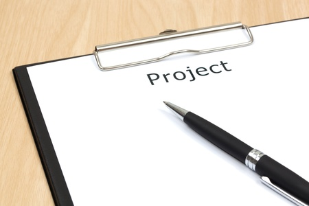 The word projects close up in paper Stock Photo - 18413793