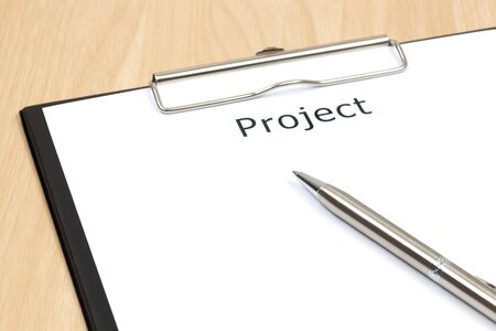 The word projects close up in paper Stock Photo - 18413791