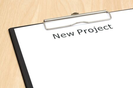 The word projects close up in paper Stock Photo - 18413790