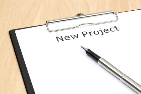 The word projects close up in paper Stock Photo - 18413794