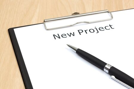 The word projects close up in paper Stock Photo - 18413864