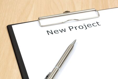 The word projects close up in paper Stock Photo - 18413863
