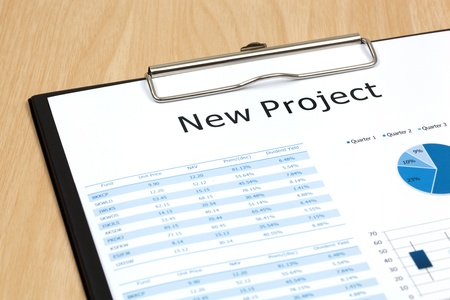 The word projects close up in paper Stock Photo - 18413872