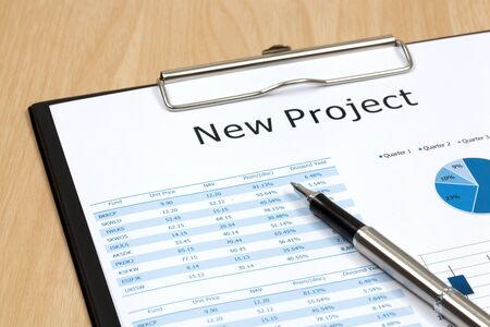The word projects close up in paper Stock Photo - 18413857