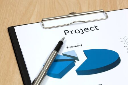 The word projects close up in paper Stock Photo - 18413873