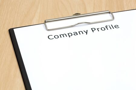The word company close up in paper Stock Photo - 18413867