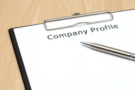The word company close up in paper Stock Photo - 18413868