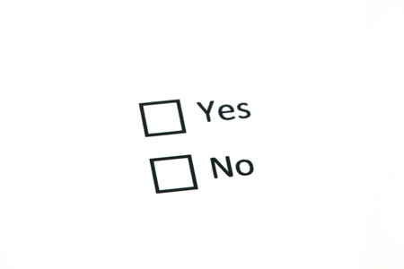 About to choose between yes, no Stock Photo - 18413795