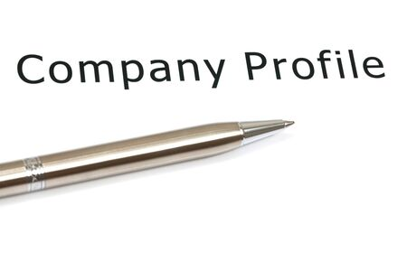 The word company close up in paper Stock Photo - 18413812