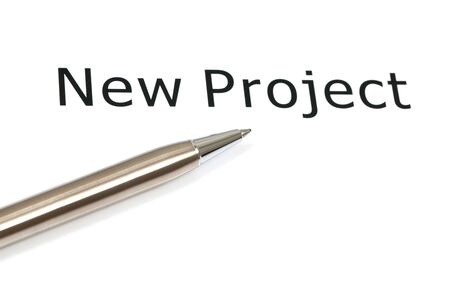 The word projects close up in paper Stock Photo - 18413837