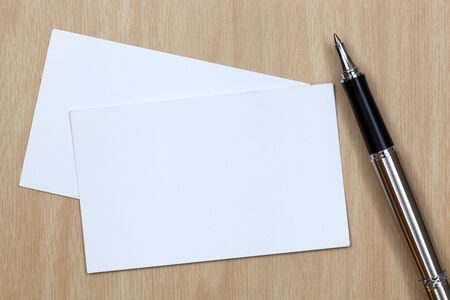 business card on table with pen Stock Photo - 18591457