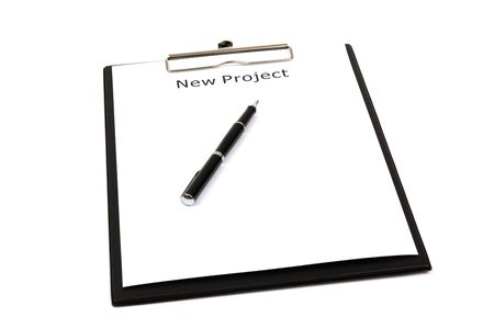 The word new projects close up in paper Stock Photo - 18591335