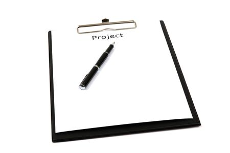 The word projects close up in paper Stock Photo - 18591333