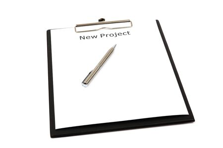 The word new projects close up in paper Stock Photo - 18730173