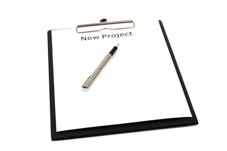 The word new projects close up in paper Stock Photo - 18730176