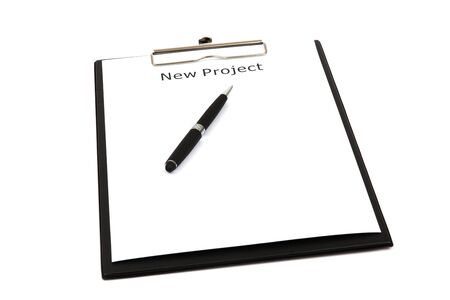 The word new projects close up in paper Stock Photo - 18730172