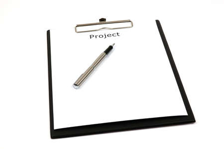 The word projects close up in paper Stock Photo - 18730179