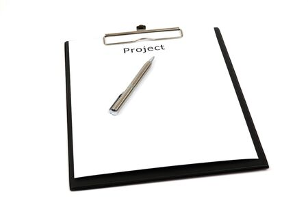 The word projects close up in paper Stock Photo - 18730169