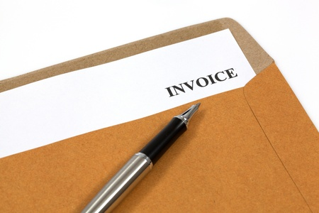 accounts payable: invoice, estimates and statements in folder