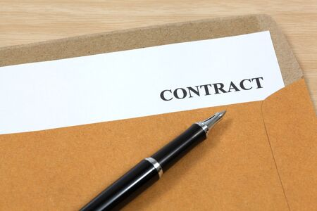 contract, contract in folder Close-up photo