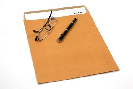invoice, estimates and statements in folder Stock Photo - 18808920