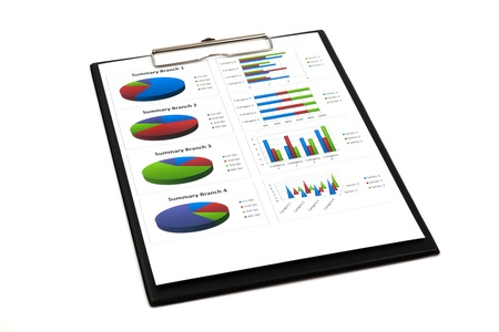 business chart showing financial success Stock Photo - 18905257