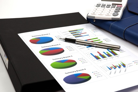 business chart showing financial success Stock Photo - 18905295