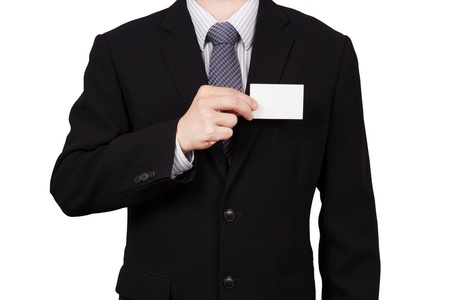 business man portrait isolated on white photo
