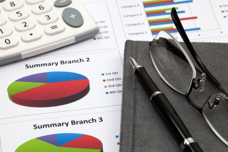 Business research report Stock Photo
